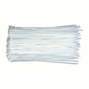 2000 Pack 12 Inch Cable Zip Tie Heavy Duty Nylon 50 Lbs Strap Self Lock White