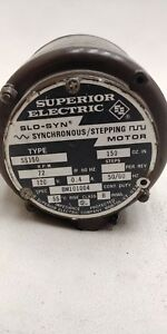 Superior Electric Slo syn Synchronous stepping Motor Ss150 120v 0 4a 50 60hz