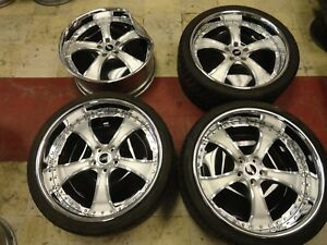 22 Tis Modular Forged Staggered Wheels 2 piece Charger Challenger Rims 5x114 3