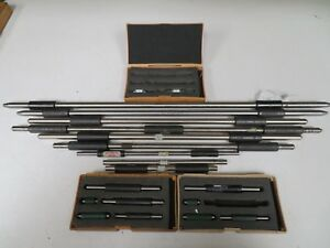 Lot Of End Measuring Micrometer Standards Various Sizes Ne38