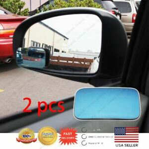 A Pair Blue Blind Spot Mirror Wide Angle Rear View Car Side Mirror For Chevrolet