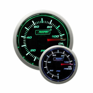 Prosport 52mm Universal Oil Pressure Gauge With Sender Green White