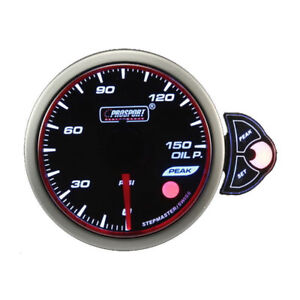 Prosport Halo Series 52mm 3 Color Oil Pressure Gauge