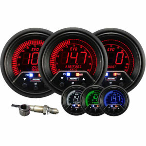 Prosport Evo 60mm Electrical Oil Pressure Boost Wideband Air Fuel Gauge Kit