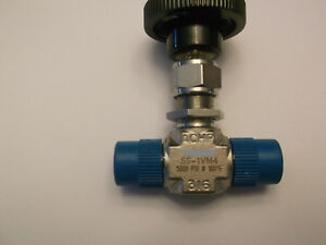 Swagelok 316 Stainless Steel Integral Bonnet Needle Valve Mnpt New Ss 1vm4