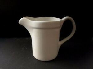 Ironstone Pitcher Museum Of Modern Art Moma Vintage White Heavy Ceramic Exclt