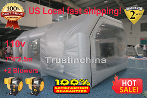 New Inflatable Giant Car Workstation Spray Paint Booth Tent 7 4 2 5m Grey In Us