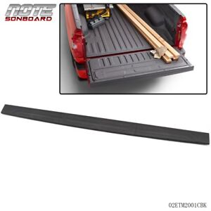 For 14 18 Toyota Tundra Pickup Tailgate Moulding Protector Cover Top Black Abs