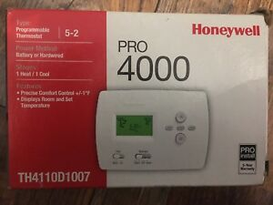 Honeywell Programmable 5 2 Day Thermostat New Heat cool Or Heat Pump Without Aux