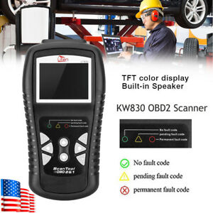 Uten Kw830 Obdii Obd2 Can Car Lcd Code Reader Data Tester Diagnostic Scan Tool