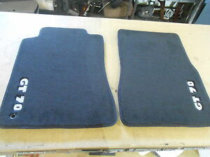 Set 2 Gt70 Black Floor Mats Front 2 Door 2005 2006 2007 2009 Ford Mustang Oem
