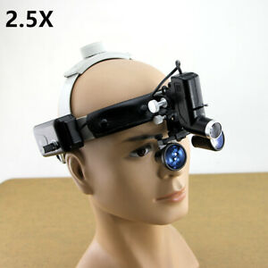 High Quality 2 5x Headband Dental Loupes Headlight Surgical Binocular Glasses