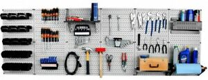 Wall Control 32 In X 96 In Metal Pegboard Master Workbench Tool Organizer And