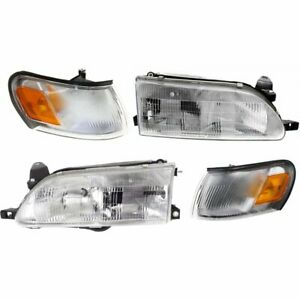 New Auto Light Kit Driver Passenger Side Lh Rh For Toyota Corolla 1993 1997
