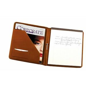 Leather Writing Padfolio tan By Royce