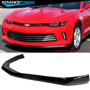 Fits 16 18 Camaro Lt Coupe V6 Oe Front Bumper Lip Spoiler Painted Black Wa8555