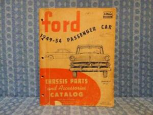 1949 1954 Ford Pass Car Original Chassis Parts Accessories Catalog 50 51 52 53
