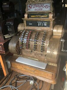 Restored Antique Brass National Cash Register 442 E L