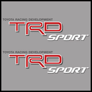 Trd Sport Bed Decal Sticker Toyota Racing Development Off Road 4x4 Tundra Tacoma