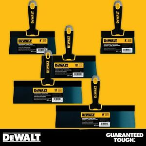 Dewalt Drywall Taping Knife Set Premium Blue Steel 6 8 10 12 14 W Soft Grip
