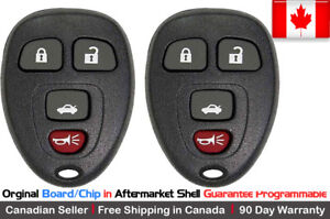 2x New Oem Replacement Keyless Entry Remote Key Fob For Chevy Buick Pontiac