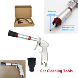 Air Gun Car Dry Cleaning Tornado Pneumatic Spray Dirt Washing Tool W brush Head
