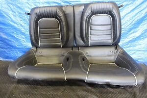 2015 Ford Mustang 5 0 Coyote V8 Oem Factory Black Leather Rear Seats 1144