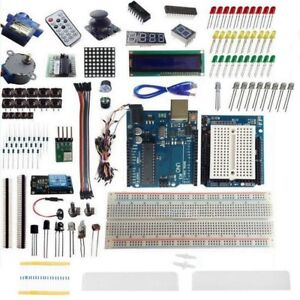 Uno R3 Starter Kit Lcd1602 Relay Module Keypad Buzzer Leds Sensor For Arduino Gy