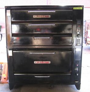Blodgett Ovens Double Triple Deck Commercial Pizza Bread Roast Pastries 3 Oven