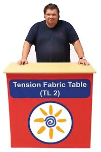 Trade Show Pop Up Promo Counter Table Portable Promotion Kiosk Fabric Graphics