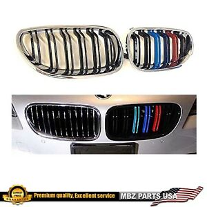 5 Series Black Gloss Chrome Grille Bmw E60 04 09 Double Line Kidney M color M5