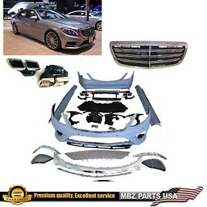 2014 2015 2016 2017 S63 Full Body Kit Bumpers Grille Tips Skirts S class S550