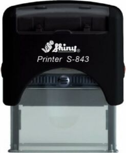 Wholesale Lot Of 42 Shiny S 845 Office Self inking Rubber Stamps Custom 6 Line
