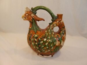 Tang Dynasty 1200 Years Old Sancai Phoenix Ewer