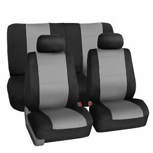 Neoprene Auto Seat Covers For Sedan Suv Waterproof Complete Set Gray Black