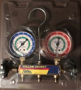 Yellow Jacket 42001 Mechanical Manifold Gauge Set 2 valve