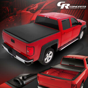 Roll Up Truck Bed Soft Tonneau Cover For 82 93 Chevy S10 Gmc S15 6ft Fleetside