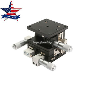 Xyz 3axis Linear Stage Trimming Platform Bearing Tuning Sliding Table 60x60 us