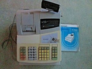 Sharp Xe a202 Electronic Cash Register Fully Functional With Keys Manual