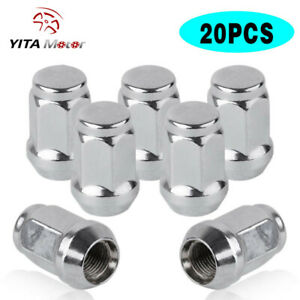 20 14x1 5 Chrome Lug Nuts For Dodge Magnum Charger Chevy Chrysler 300 Wheels