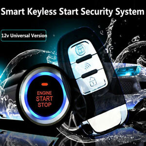 Universal Car Keyless Entry Engine Start Alarm System Push Button Remote Starter
