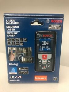 Bosch 165 Ft Laser Measure With Bluetooth And Full color Display Glm 50 Cx