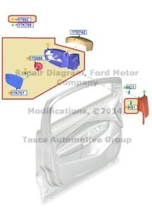 New Oem Lh Side Rear View Outer Mirror Assembly 2013 Ford Escape cj5z 17683 ca
