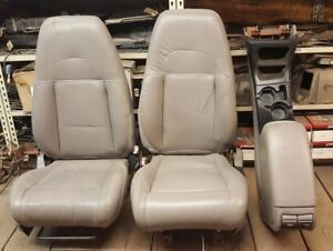 1995 2001 Ford Explorer 2 Door Sport Front Leather Seats Center Console Gray