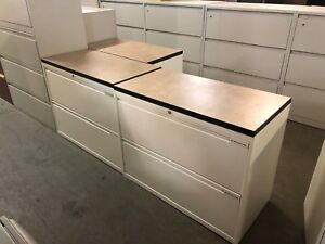 2 Drawer Lateral Size File Cabinet W Top By Office Specialty In White Color
