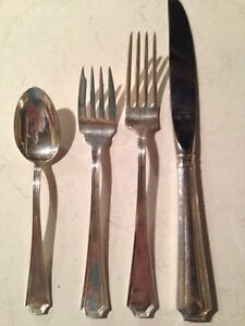 Gorham Fairfax Sterling Silver 4 Piece Place Setting No Monos Place Size