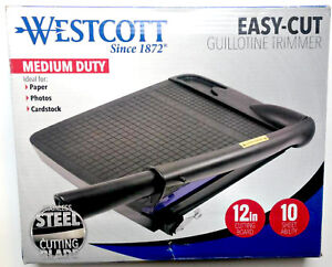 Westcott 16559 Guillotine Paper Trimmer Cutter Medium Duty 12 10 Sheet Ability