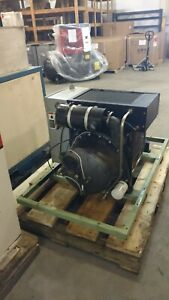 Used 30 Hp Sullair Skid Mounted Enclosed 230 460v 3 Phase