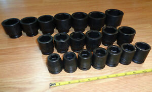 Usa Made Craftsman Industrial 3 4 Drive Impact Socket Set Standard Sae Inch 20