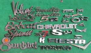 Huge Vintage Emblem Lot Plymouth Mercury Chevrolet Pontiac Amc All Nice Shape